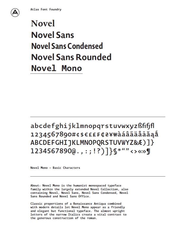AtlasFontFoundry_NovelMono_PDF_Icon