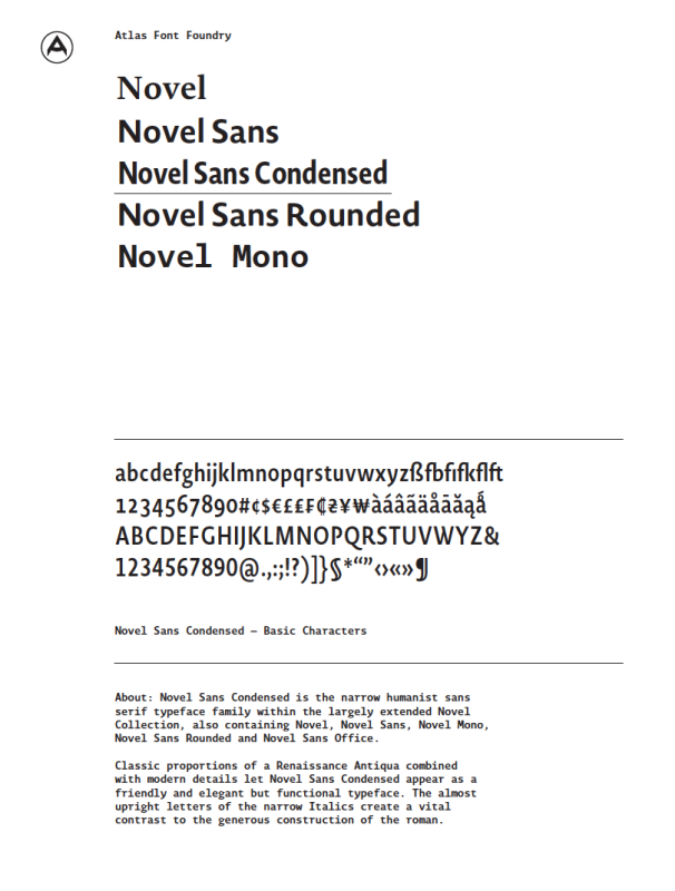 AtlasFontFoundry_NovelSansCondensed_PDF_Icon