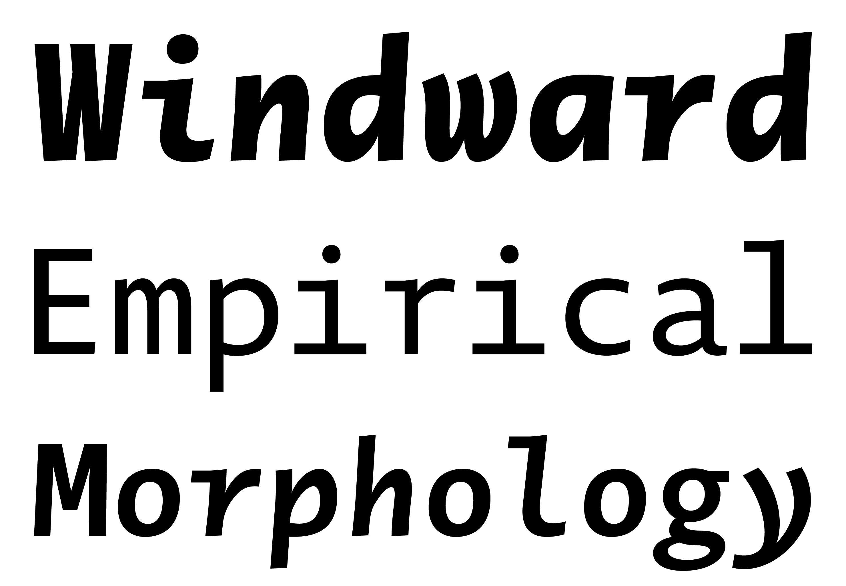 Typeface Novel Mono A02 Atlas Font Foundry