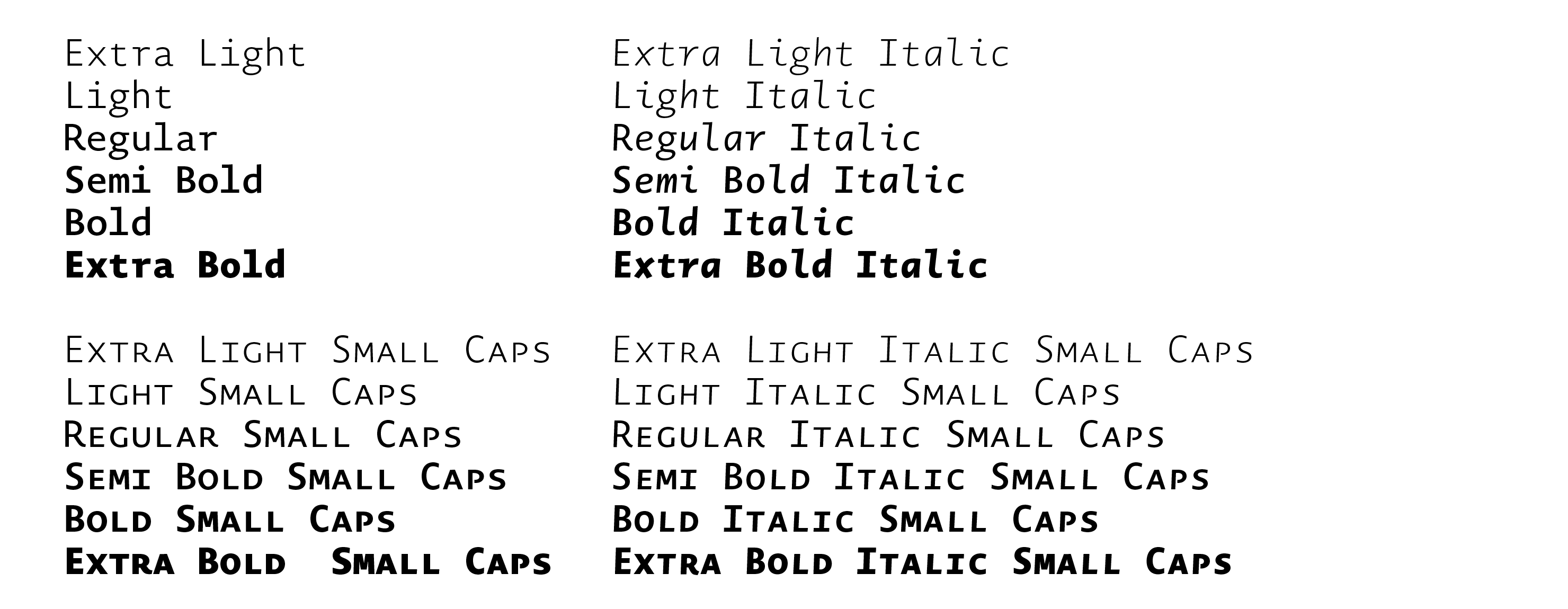 Typeface Novel Mono C01 Atlas Font Foundry