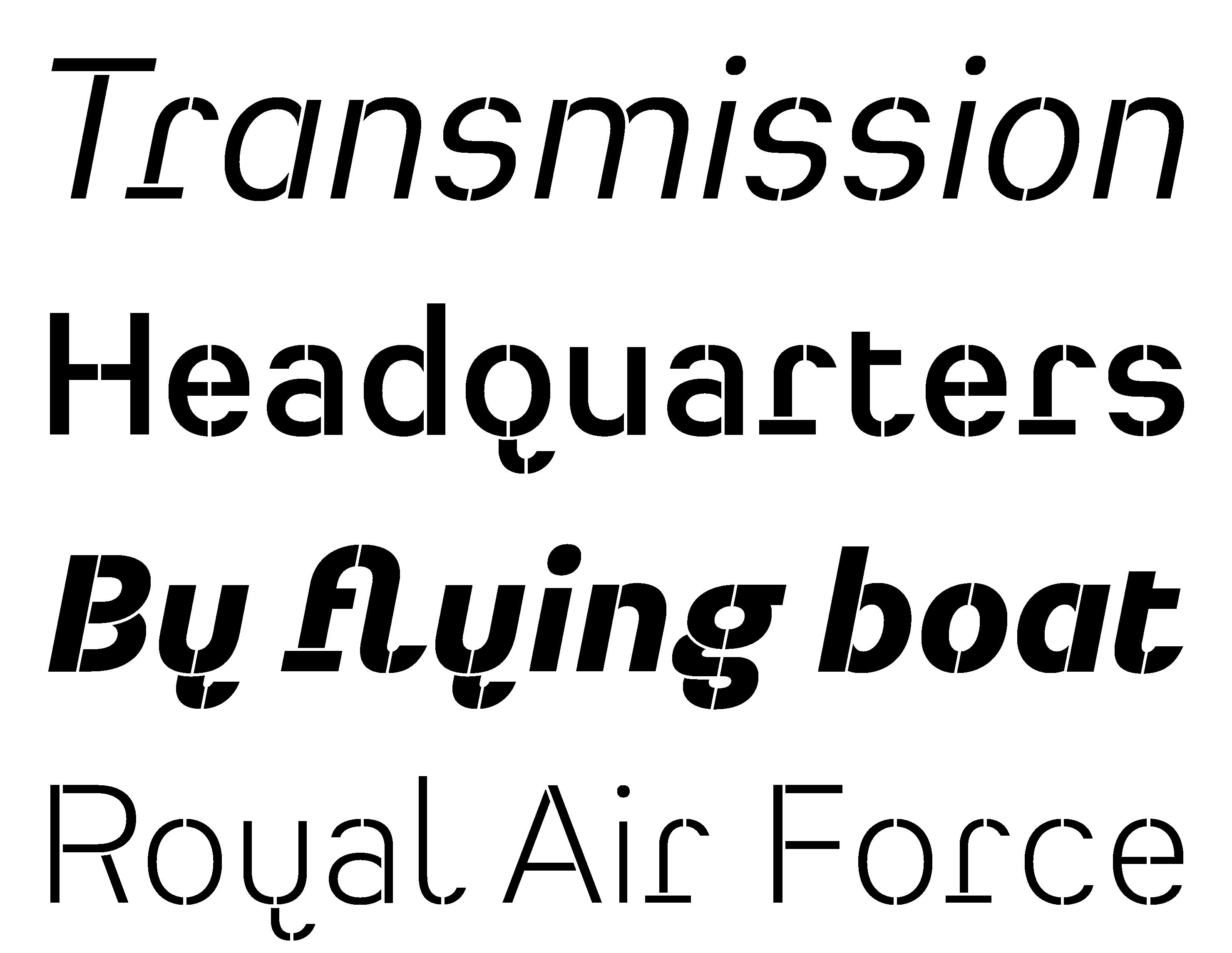 Typeface Heimat Stencil A03 Atlas Font Foundry