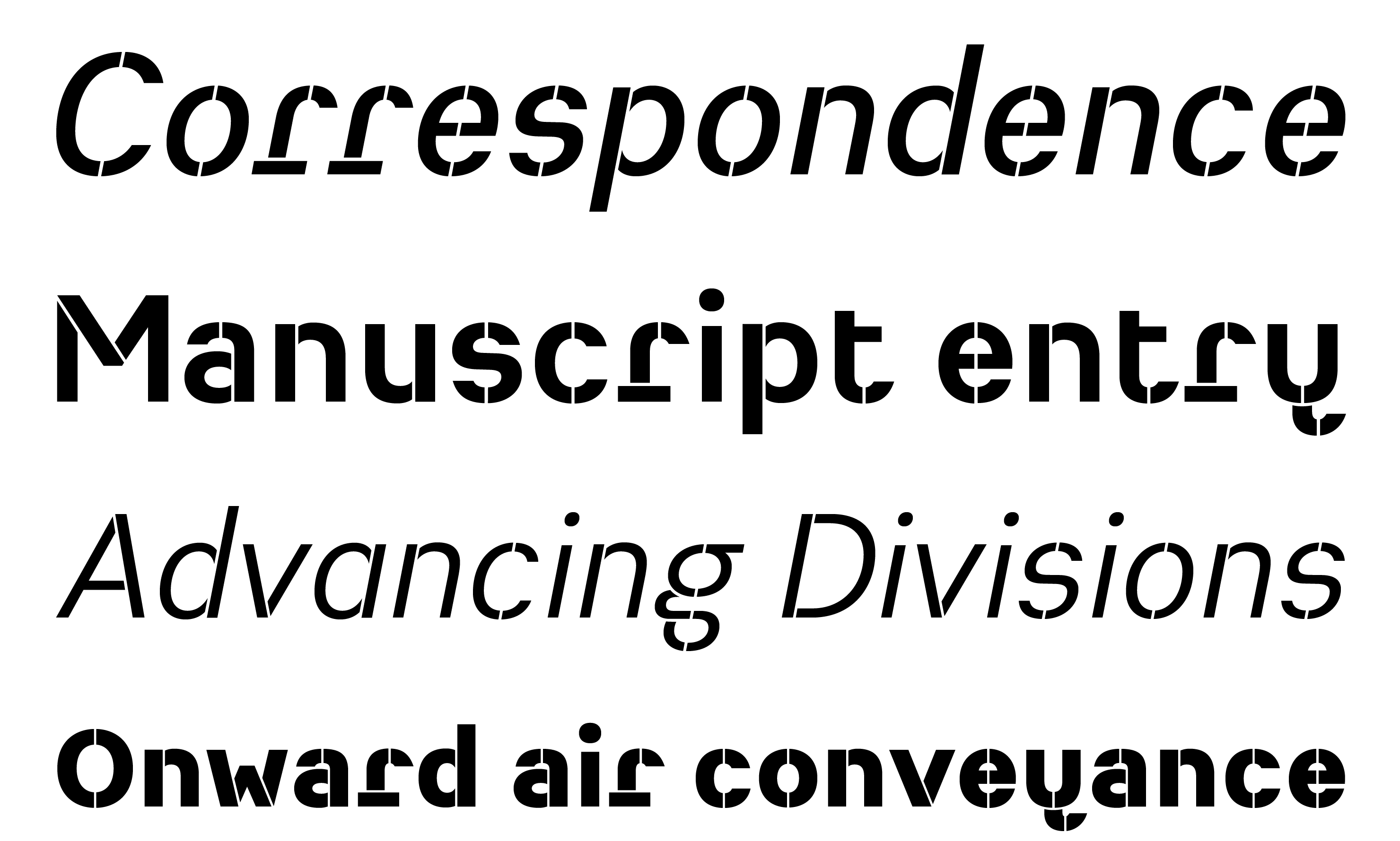 Typeface Heimat Stencil A04 Atlas Font Foundry