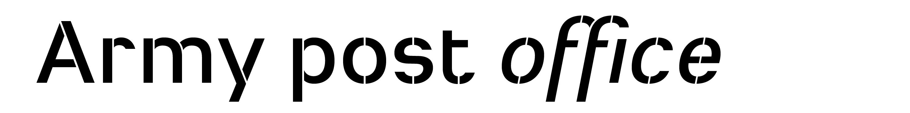 Typeface Heimat Stencil D010 Atlas Font Foundry