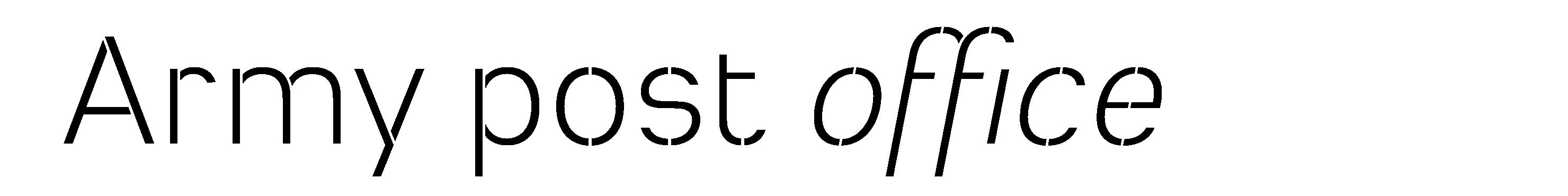 Typeface Heimat Stencil D08 Atlas Font Foundry