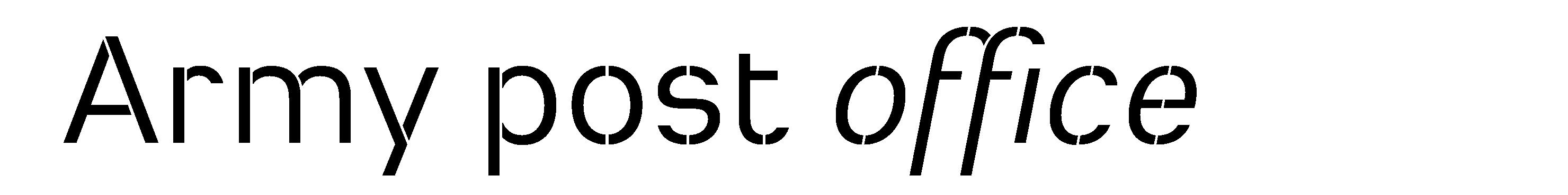Typeface Heimat Stencil D09 Atlas Font Foundry